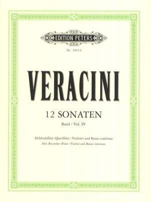 Francesco Maria Veracini - 12 Sonaten, Bd. 4 – Altblockflöte u. Bc - Partition - di-arezzo.fr