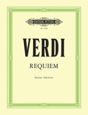 Giuseppe Verdi - Requiem – Partitur - Partition - di-arezzo.fr