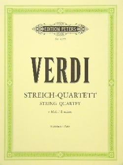 Giuseppe Verdi - Streichquartett e-moll –Stimmen - Partition - di-arezzo.fr
