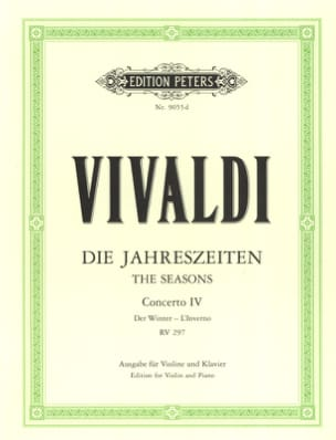 Antonio Vivaldi - Concerto L'inverno op. 8 n ° 4 RV 297 - Sheet Music - di-arezzo.co.uk