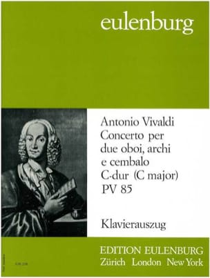 VIVALDI - Konzert 2 Oboes In C, Pv 85 - Trio 2 Hautbois-Piano - Partition - di-arezzo.fr