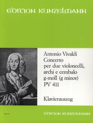 VIVALDI - Concerto G-Moll Pv 411 - Partition - di-arezzo.fr