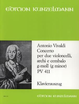 Concerto G-Moll Pv 411 VIVALDI Partition Violoncelle - laflutedepan