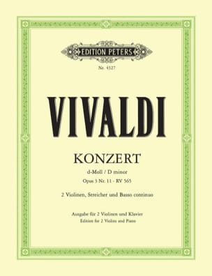 VIVALDI - Konzert D-Moll Op. 3 No. 11 Rv 565 - Sheet Music - di-arezzo.co.uk