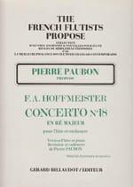 Concerto n° 18 en ré majeur Franz-Anton Hoffmeister laflutedepan