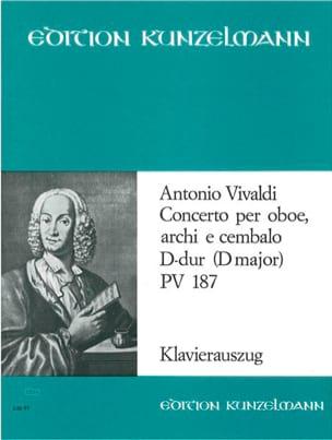 Concerto per oboe D-Dur PV 187 VIVALDI Partition laflutedepan