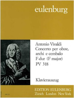 Antonio Vivaldi - Concerto F-Dur PV 318 – Oboe Klavier - Partition - di-arezzo.fr