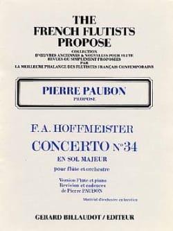 Concerto n° 34 en sol majeur -Flûte piano HOFFMEISTER laflutedepan