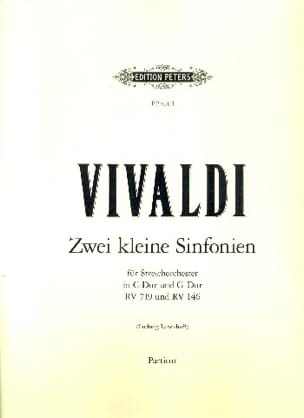 VIVALDI - Sinfonia Nr. 1 und 2 - Partitur - Sheet Music - di-arezzo.co.uk