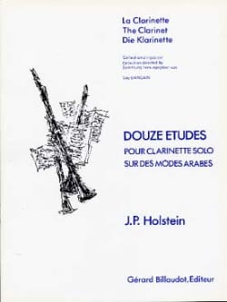 Jean-Paul Holstein - 12 Studies on Arabian Modes - Clarinet - Sheet Music - di-arezzo.co.uk