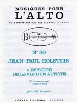 Jean-Paul Holstein - A Contre-Chant N°4 - Partition - di-arezzo.fr