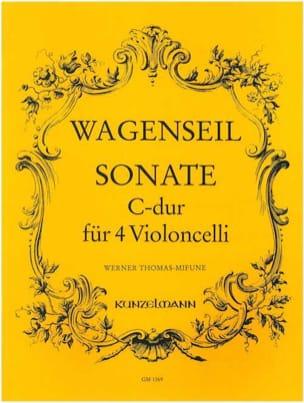 Georg Christoph Wagenseil - Sonate C-Dur – 4 Violoncelli - Partition - di-arezzo.fr