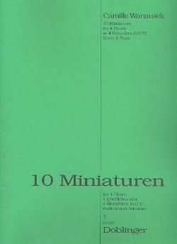 10 Miniaturen - 4 Flöten Stimmen und Partitur laflutedepan