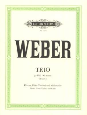 Carl Maria von Weber - Trio g-moll op. 63 -Klavier Flöte Violoncello - Partition - di-arezzo.fr
