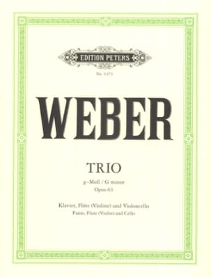 Carl Maria von Weber - Trio g-moll op. 63 - Klavier Flöte Violoncello - Sheet Music - di-arezzo.com