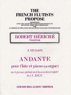 Jules Hugon - Andante - Flûte piano orgue - Partition - di-arezzo.fr