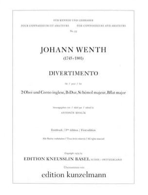 Johann Wenth - Divertimento B-Dur - 2 Oben Englischhorn - Sheet Music - di-arezzo.co.uk