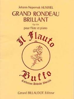 Grand rondeau brillant op. 126 - Flûte piano HUMMEL laflutedepan