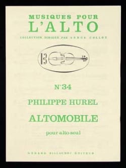 Philippe Hurel - Altomobile - Sheet Music - di-arezzo.co.uk