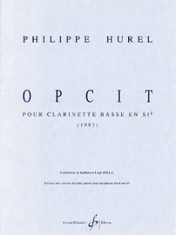 Philippe Hurel - Opcit - Partition - di-arezzo.fr