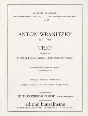 Trio C-Dur – 2 Oboen Englischhorn - Anton Wranitzky - laflutedepan.com