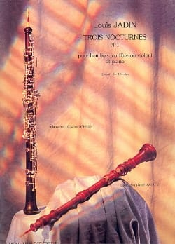 Trois Nocturnes - n° 1 Louis Emmanuel Jadin Partition laflutedepan