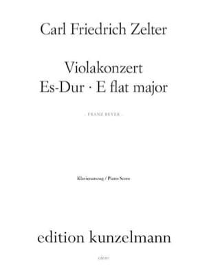 Carl Friedrich Zelter - Viola Konzert Es Hard - Partition - di-arezzo.com