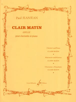 Clair matin Paul Jeanjean Partition Clarinette - laflutedepan