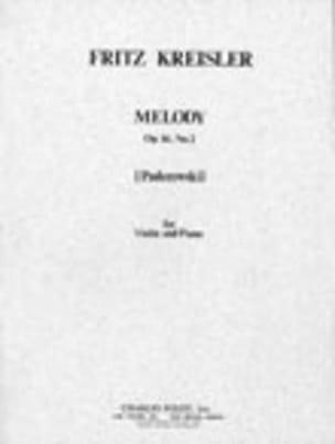 Paderewski Ignacy Jan / Kreisler Fritz - Mélodie op. 16 n° 2 - Partition - di-arezzo.fr