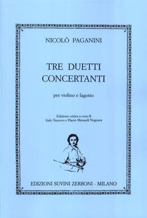Tre Duetti Concertanti Nicolo Paganini Partition Duos - laflutedepan