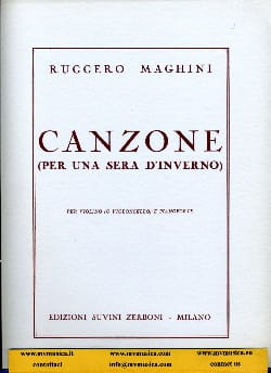 Canzone - Ruggero Maghini - Partition - Violon - laflutedepan.com
