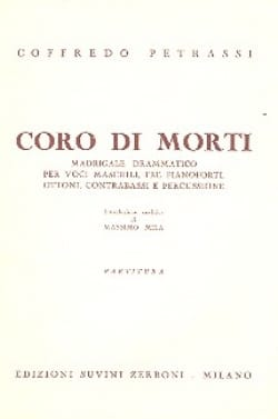 Goffredo Petrassi - Coro di Morti - Partitura - Sheet Music - di-arezzo.co.uk