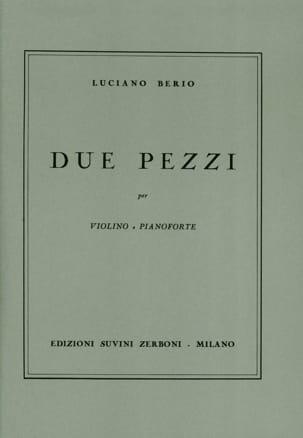 Due Pezzi - Luciano Berio - Partition - Violon - laflutedepan.com