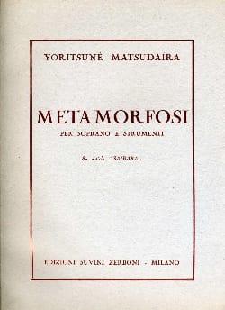 Yoritsuné Matsudaïra - Metamorfosi - Partition - di-arezzo.fr