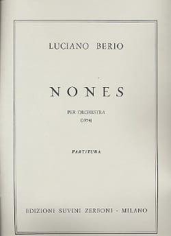 Nones - Luciano Berio - Partition - Grand format - laflutedepan.com