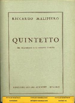 Riccardo Malipiero - Quintetto -Parties + Conducteur - Partition - di-arezzo.fr