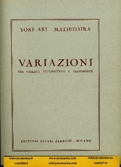 Yori-Aki Matsudaira - Variazioni - Sheet Music - di-arezzo.com