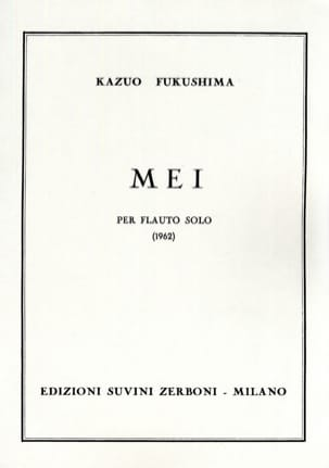 Kazuo Fukushima - Mei - Solo Flauto - Sheet Music - di-arezzo.co.uk