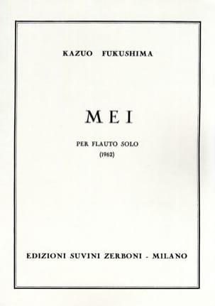 Kazuo Fukushima - Mei – Flauto solo - Partition - di-arezzo.fr