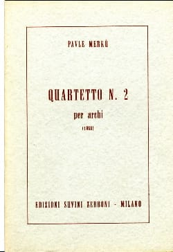 Pavle Merku - Quartetto n ° 2 per archi - Partitura - Sheet Music - di-arezzo.co.uk