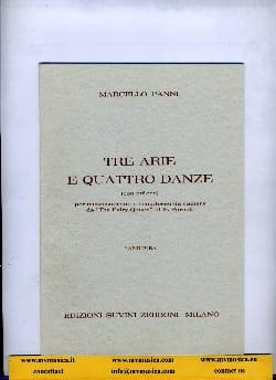 Marcello Panni - Tre Arie e quattro Danze - Partitura - Partition - di-arezzo.fr