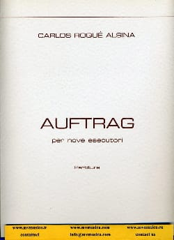 Carlos Roqué Alsina - Auftrag - Partitura - Sheet Music - di-arezzo.com
