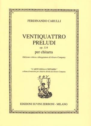Ferdinando Carulli - 24 Preludes op. 114 for guitar - Sheet Music - di-arezzo.co.uk