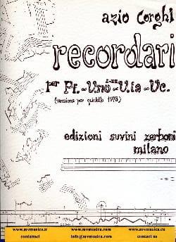 Aldo Corghi - Recordari –Partitura - Partition - di-arezzo.fr