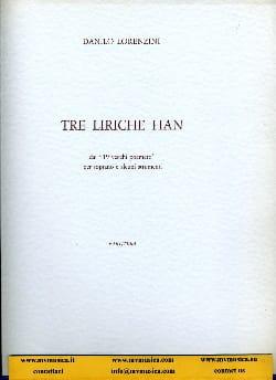 Danilo Lorenzini - 3 Liriche Han - Partition - di-arezzo.fr