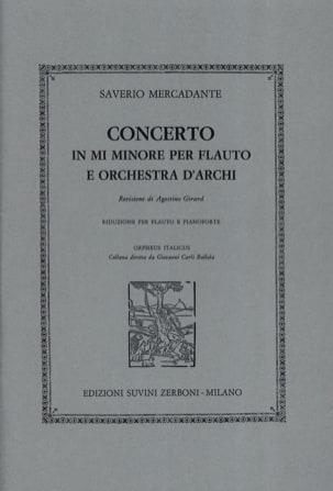 Saverio Mercadante - Concerto in mi minore - piano flute - Sheet Music - di-arezzo.co.uk