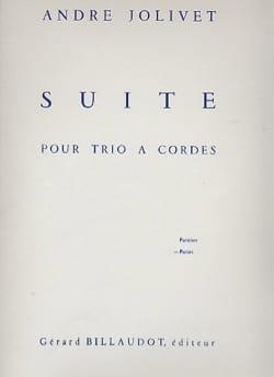 Suite pour trio à cordes - Parties André Jolivet laflutedepan