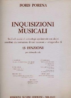 Inquisizioni musicali - Boris Porena - Partition - laflutedepan.com