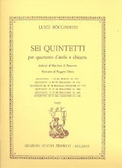 Luigi Boccherini - Quintetto n° 5 re maggiore G. 449 –Parti - Partition - di-arezzo.fr