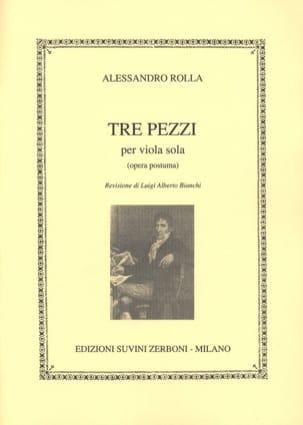 Alessandro Rolla - 3 Pezzi op. posth. - Partition - di-arezzo.fr